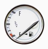 燃料的水平测量仪在汽车的 库存图片