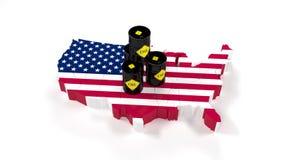 燃料能油美国 油桶在股票市场上 市场贸易 45 皇族释放例证