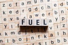 燃料词概念 免版税库存照片