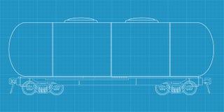燃料铁路坦克vagon 库存例证