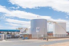 燃料贮存设施在哈密尔顿在布隆方丹 免版税库存图片