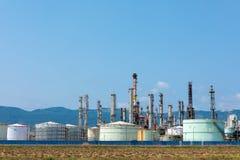 燃料贮存设施特写镜头  免版税图库摄影