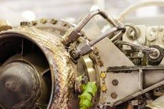 燃气轮机辅助电源设备细节  免版税库存照片
