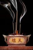 燃烧器中国人香火 库存图片