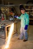 燃烧器工厂金属跟踪 库存照片