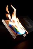 燃烧器dvd 免版税库存照片