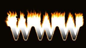 燃烧的万维网 库存图片