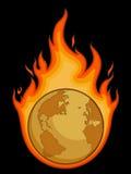 燃烧的使荒凉的地球 免版税库存图片