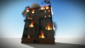 燃烧的公寓背景 皇族释放例证