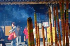 燃烧的广州香火 库存图片