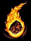 燃烧的彗星 库存图片