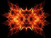 燃烧的火光芒 库存例证