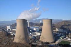 燃煤发电工厂 免版税库存照片