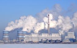 燃煤发电工厂 图库摄影