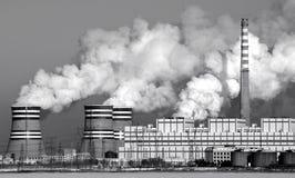 燃煤发电工厂 库存照片