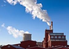 燃煤发电植物 免版税库存图片