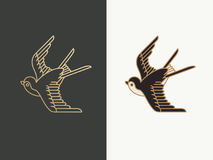 燕子鸟商标 免版税库存图片