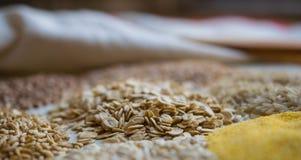 燕麦剥落 免版税库存照片