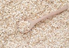 燕麦和木匙子 库存图片