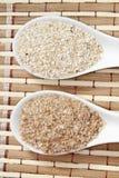 燕麦和麦麸 免版税图库摄影