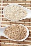 燕麦和麦麸 免版税库存照片