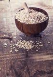 燕麦在弓剥落 免版税库存照片