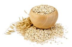 燕麦在碗剥落 免版税库存照片