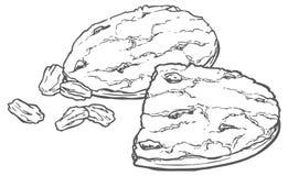 燕麦曲奇饼用葡萄干 库存图片