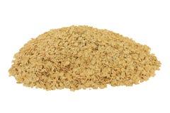 燕麦片,在堆的大剥落 免版税库存图片