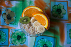燕麦粥用果子 库存照片