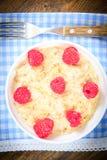 燕麦粥用莓 经典英语 库存照片
