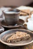 燕麦粥蛋糕用葡萄干 免版税库存照片