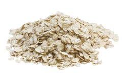 燕麦粥,隔绝在白色背景 库存照片