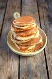 燕麦麸皮薄煎饼 库存图片