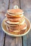 燕麦麸皮薄煎饼 库存照片