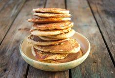 燕麦麸皮薄煎饼 图库摄影