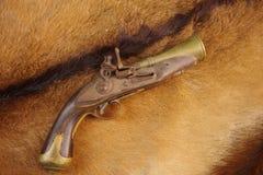 燧发枪蠢材手枪,大约1700 库存图片