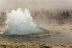 爆发冰岛 免版税图库摄影
