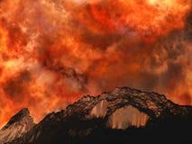 爆发火山 库存照片