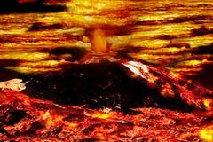 爆发火山 向量例证