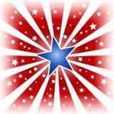 爆炸上色星形美国 向量例证