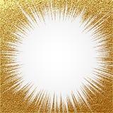 爆炸传染媒介例证 太阳光芒或星破裂了与闪闪发光的元素 金子圣诞节元素灿烂光辉闪烁 光线 库存图片