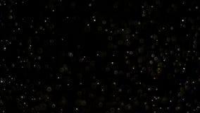爆炸在黑背景的现实闪烁 股票录像