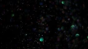 爆炸在黑背景的现实闪烁 影视素材