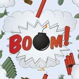 爆炸大爆炸理论样式-动画片 免版税库存照片