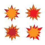 爆炸星象 红色和桔子 免版税图库摄影