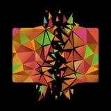 爆炸的多角形卡片 库存照片