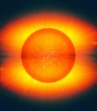 爆炸的太阳 免版税库存照片