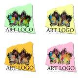 爆炸的艺术商标设计 免版税库存图片
