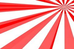 爆炸红色白色 库存例证